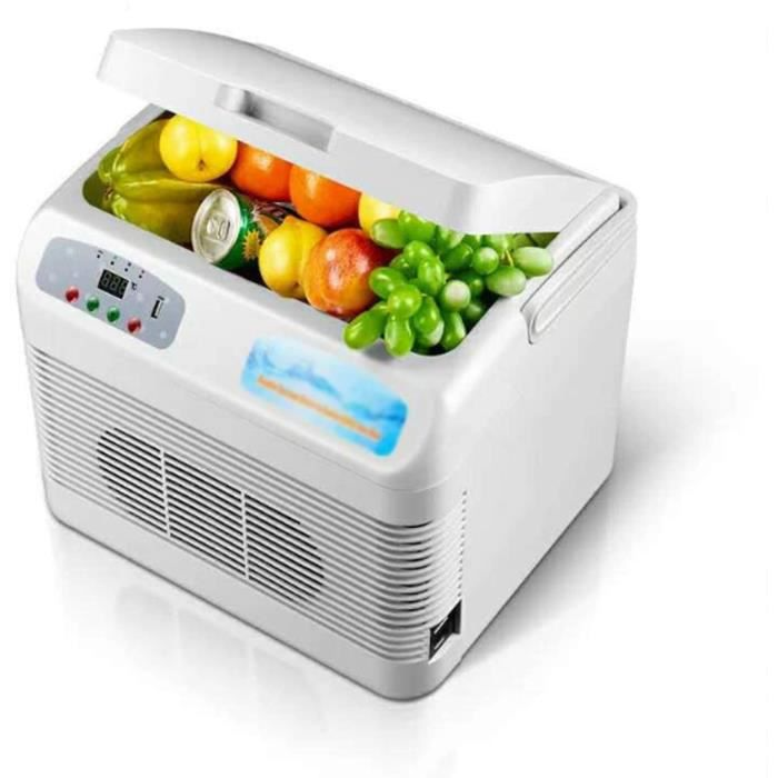 Mini Frigo, 12 litres Mini-réfrigérateurs, Mini Refroidisseur Et Chauffant Petit Réfrigérateur pour Boissons Cosmétiques-Maquil[481]