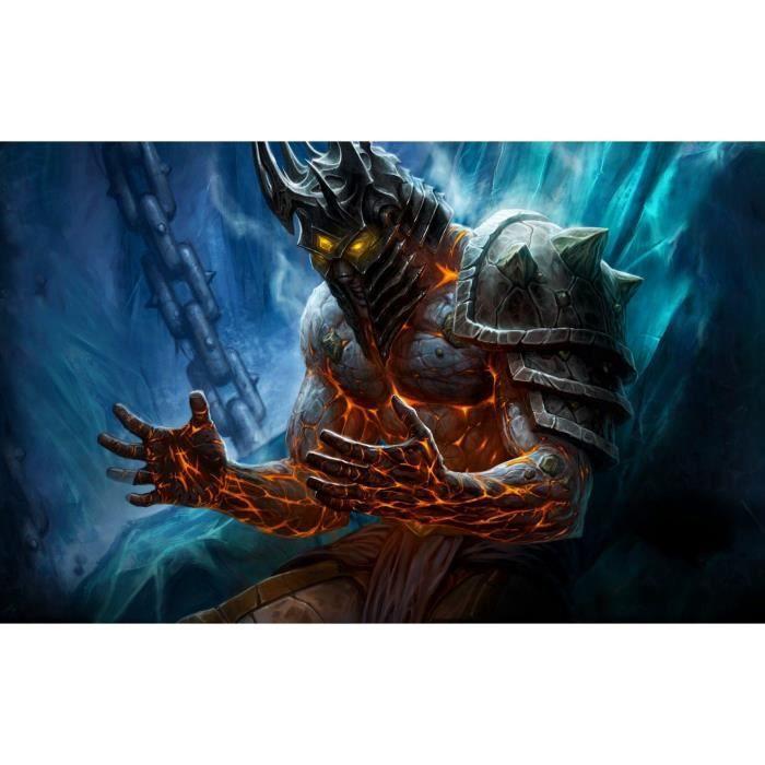 ZLB87 5D diamant peinture-World of Warcraft-bricolage diamant rond broderie kit mosaïque décoration Taille:40x50CM
