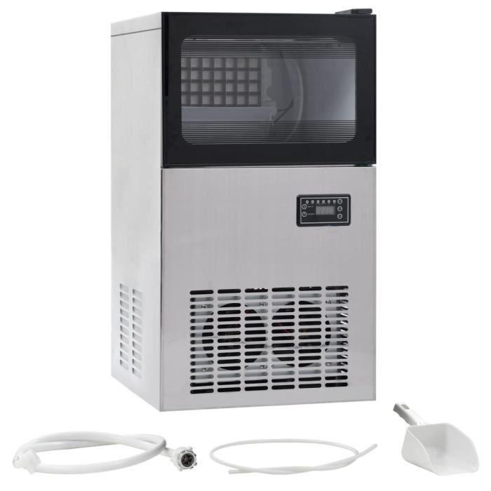 Home��Magnifique-Machine à Glaçons Machine pour Glace Appareil à glaçons 420 W Noir 45 kg - 24 h 9608
