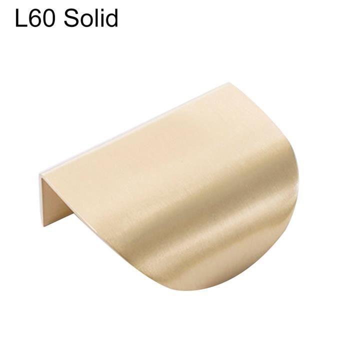 Feuille forme meubles cuisine caba-inet armoire tiroir tirer bouton laiton porte poignée feuill - Modèle: L60 Solid - WMCFXGJA00449