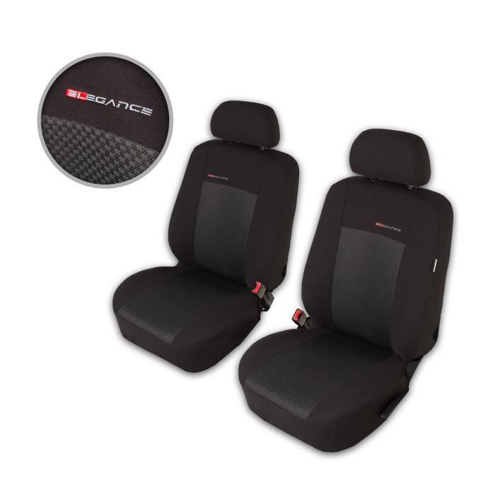 Housse De Siège Voiture Auto pour Volkswagen Golf II III IV Elegance P3 Gris tissu de revetement/velours avec mousse sièges avant