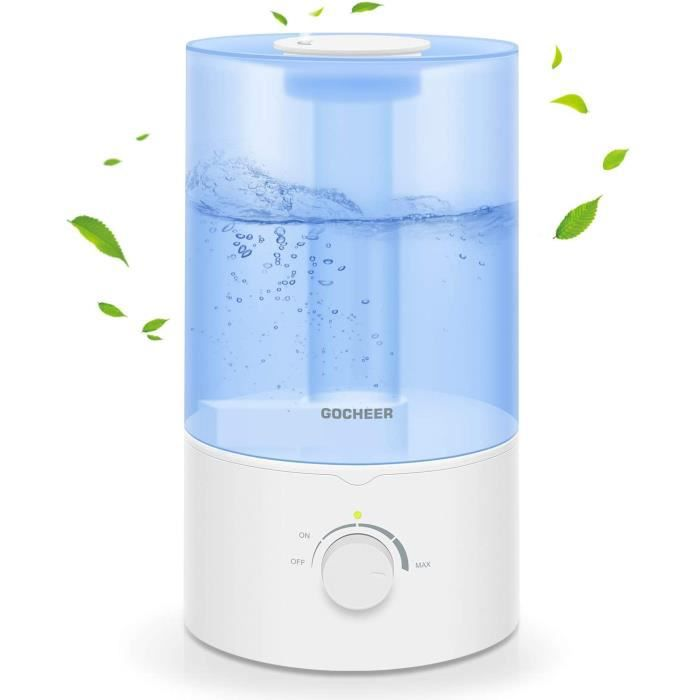 Humidificateur pour la chambre à coucher, Gocheer 3.5L Cool Mist Humidifier for Baby Room Home Ultrasonic Humidifier Essential Oil D