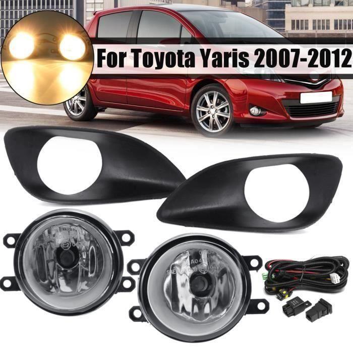 Paire Kit de Feux antibrouillard avant avec ampoule H11 et Cadres pour Toyota Yaris 2007-2012 Ve67361