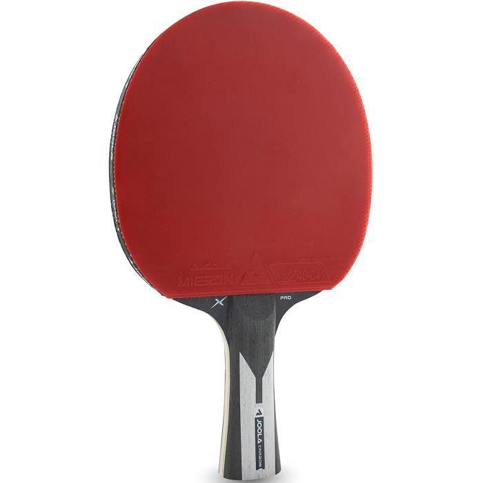 JOOLA Raquette de Tennis de Table Carbon X Pro ITTF-Approuvée-pour Compétition-7 étoiles Batte de Ping-Pong, Noir-Gris, 2.0 MM [518]