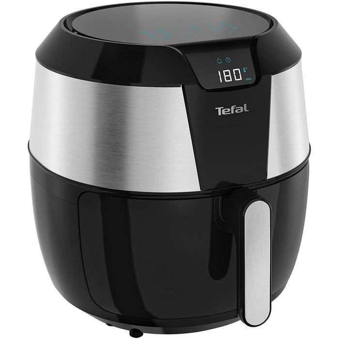 Tefal EY701D Easy Fry XXL Friteuse à air chaud 170 W Capacité 1,6 kg Minuterie 8 Menus automatiques Noir/Acier inoxydable