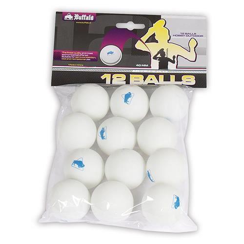 Buffalo set de balles de ping pong extérieures 12 pièces