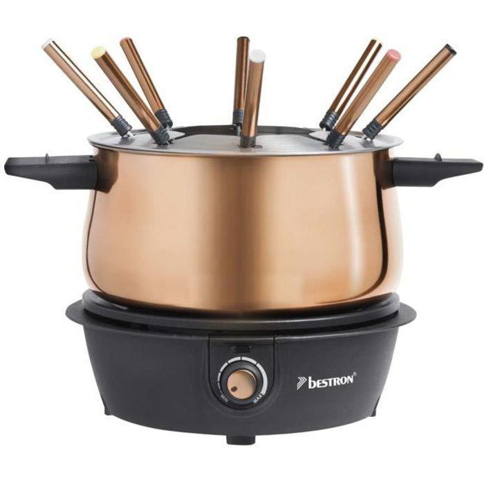 Bestron Ensemble de fondue AFD850CO 1500 W 1,5 L Cuivre