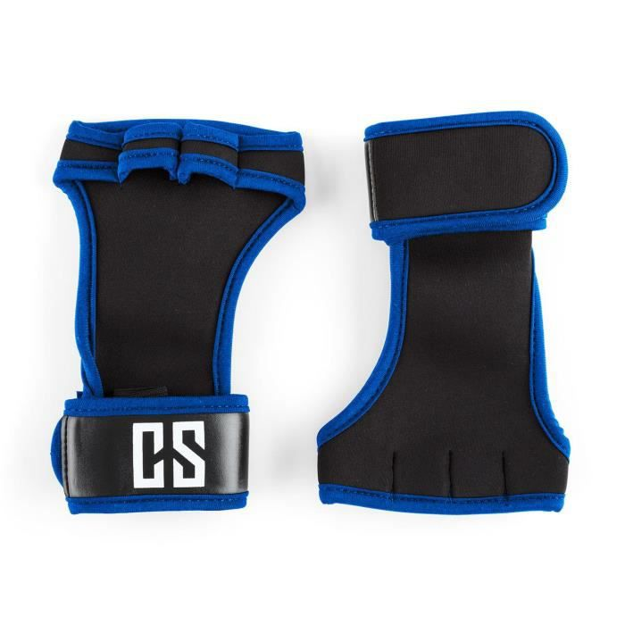 CAPITAL SPORTS Palm Pro Gants haltérophilie musculation taille M - noir-bleu