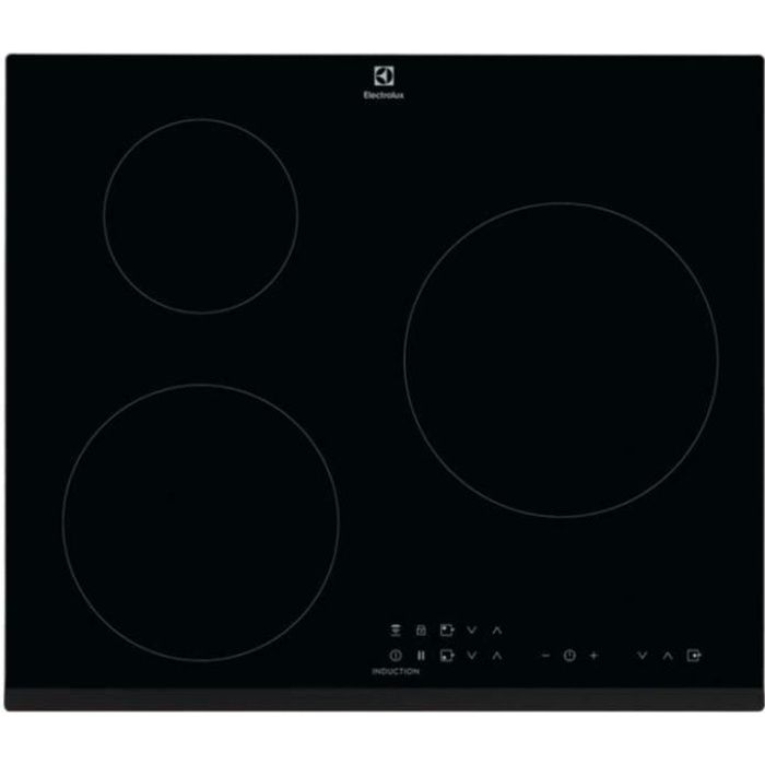ELECTROLUX Plaque de cuisson induction - 3 zones CIT60330BK - 7350 W - L 59 x P 52 cm - Revêtement verre - Noir