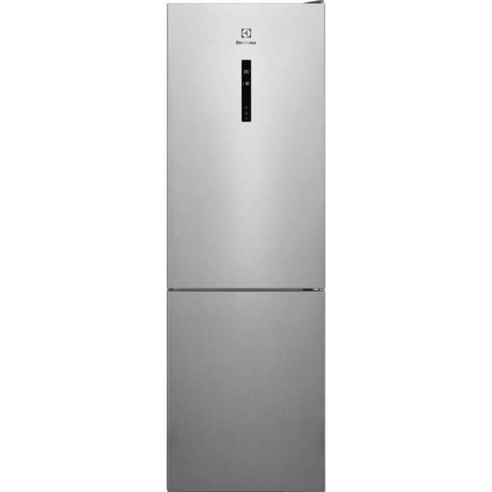 ELECTROLUX LNT7ME32X2 - Réfrigérateur congélateur bas - 302L (208+94) - No Frost - L60x H186cm - Inox