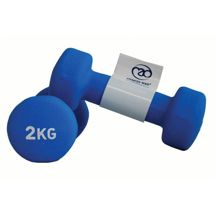 2.0Kg Neoprene Dumbbells - Blue