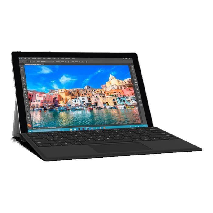 Microsoft Surface Pro 4 Type Cover - Clavier - avec trackpad, accéléromètre - Allemand - Suisse-Luxembourg - noir - commercial