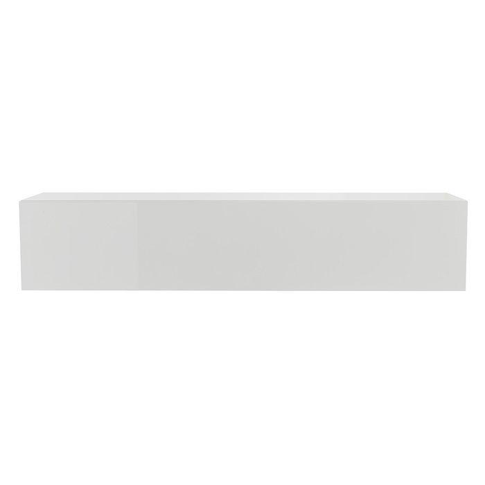 Miliboo - Élément mural TV horizontal laqué blanc brillant ETERNEL