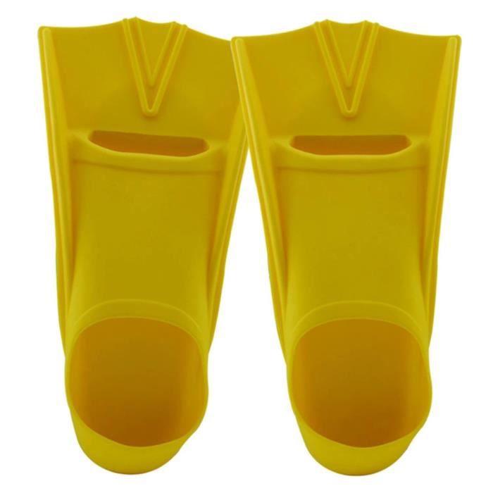Ailerons de bain Baignoires de bain de gel de silice palmes de nageoires complet Jaune