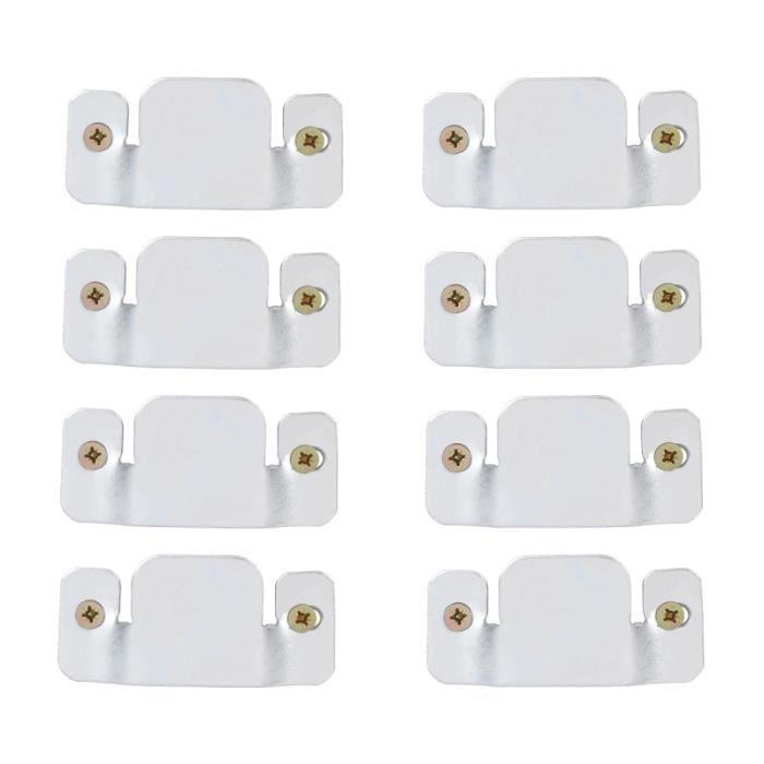 OUNONA 8 pièces Durable bonne qualité canapé connecteur support verrouillage pour meubles de salon