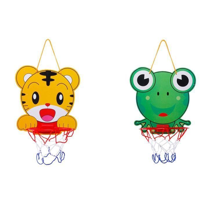Cerceau de Basket-Ball de Dessin Animé Jouet de Basket-Ball pour Enfants Panier de Dessin Animé RéGlable Animal Sports éDucatifs