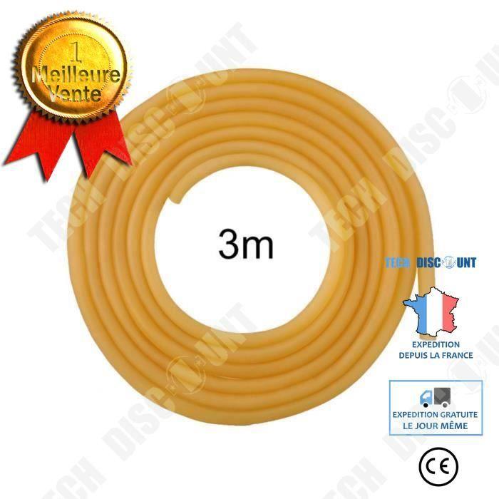 TD® Tube Élastique Latex 6 x 9 mm/ Naturel / Fronde Lance-pierre Professionnel / La Chasse Ou La Compétition Ou Accessoire
