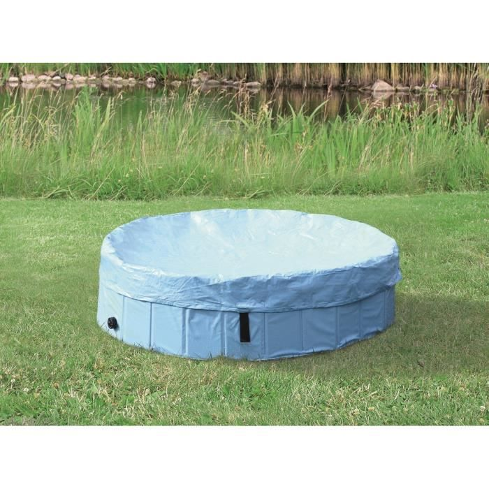 TRIXIE Protection de piscine - Ø 160 cm - Bleu clair - Pour chien