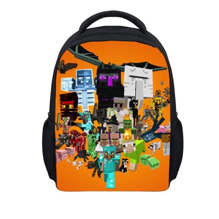cartable minecraft pack cole gar ons de sport les enfants de sac dos a2 achat vente sac. Black Bedroom Furniture Sets. Home Design Ideas
