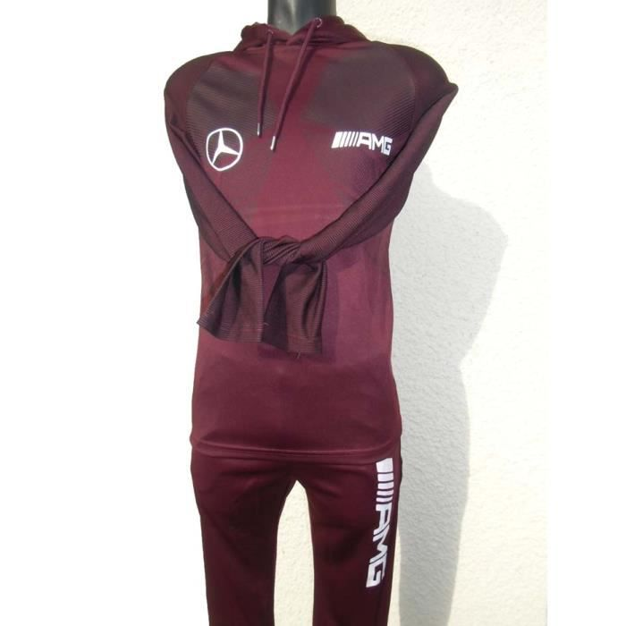 survetement amg mercedes taille xs bordeaux jogging. Black Bedroom Furniture Sets. Home Design Ideas