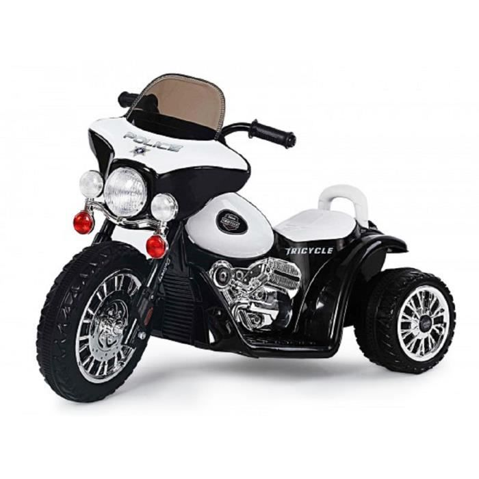 moto electrique enfant blanche police achat vente moto. Black Bedroom Furniture Sets. Home Design Ideas
