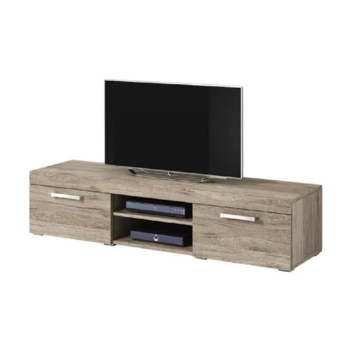 meuble tv chene clair achat vente meuble tv chene clair pas cher cdiscount. Black Bedroom Furniture Sets. Home Design Ideas