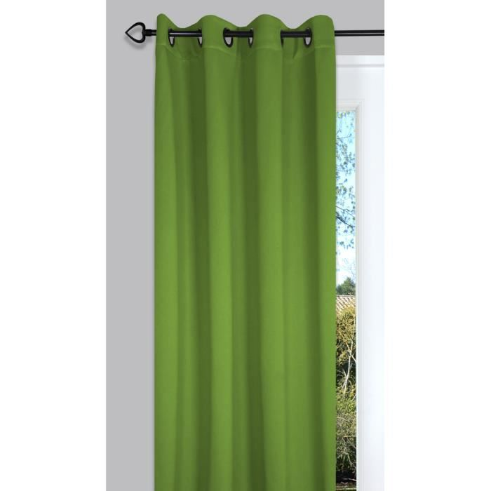 rideau occultant et isolant 135x260 cm night vert mousse achat vente rideau cdiscount. Black Bedroom Furniture Sets. Home Design Ideas