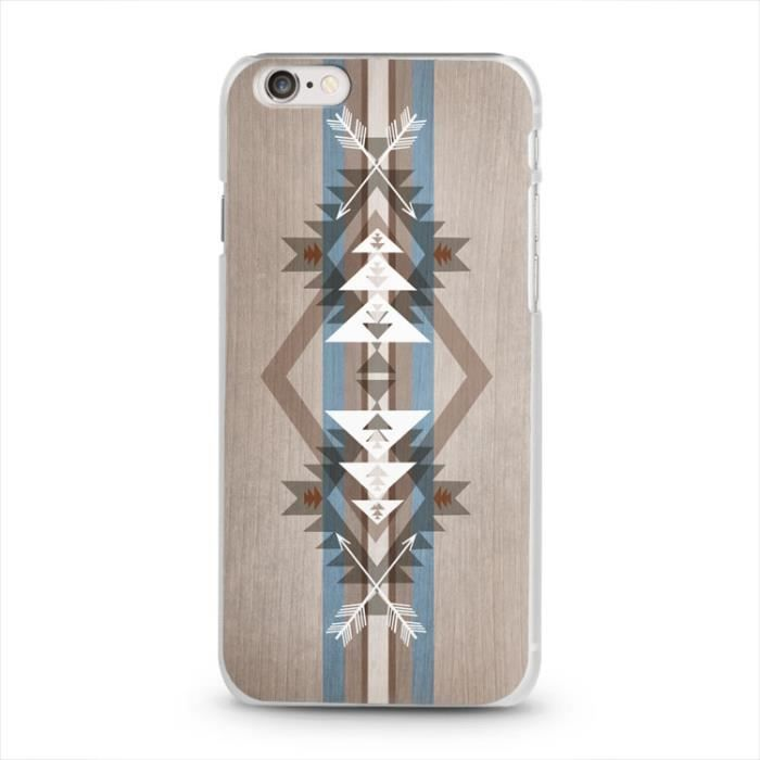 coque iphone 6 bois 1 aztec indien chevron bleu achat. Black Bedroom Furniture Sets. Home Design Ideas