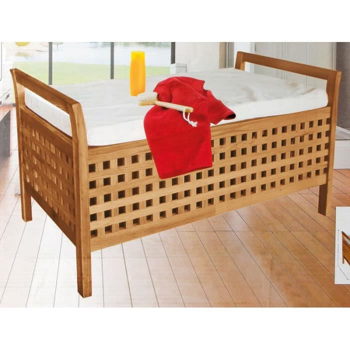 banquette coffre en bois achat vente pas cher. Black Bedroom Furniture Sets. Home Design Ideas