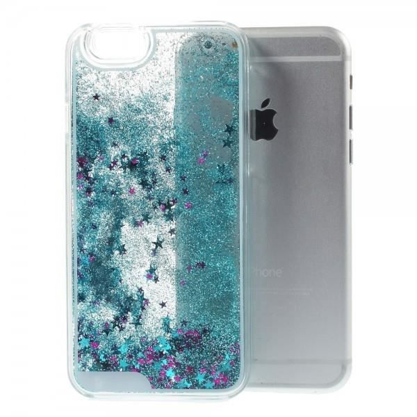 coque iphone 6 paillette bleu
