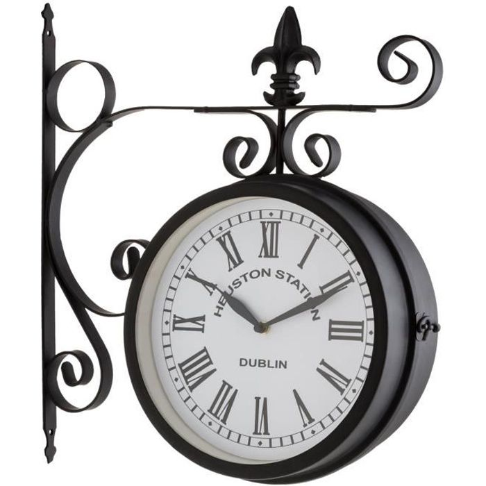 blumfeldt paddington horloge murale style pendule de gare r tro pour int rieur ext rieur. Black Bedroom Furniture Sets. Home Design Ideas