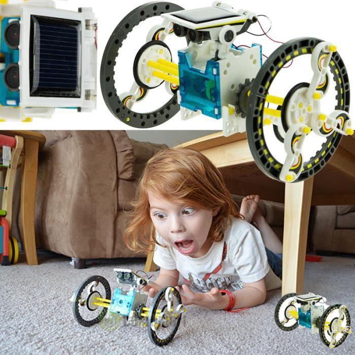EXPERIENCE SCIENTIFIQUE Kit Jouets Robot robot solaire robot éducatif Robot 14 be 1
