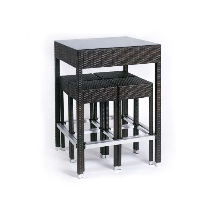 Ensemble Alto - Table haute + 4 tabourets - Achat / Vente ...