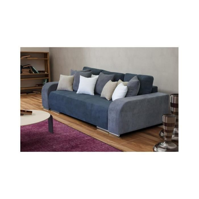 justhome bari canap en daim gris lxp 250x130 cm achat vente canap sofa divan. Black Bedroom Furniture Sets. Home Design Ideas