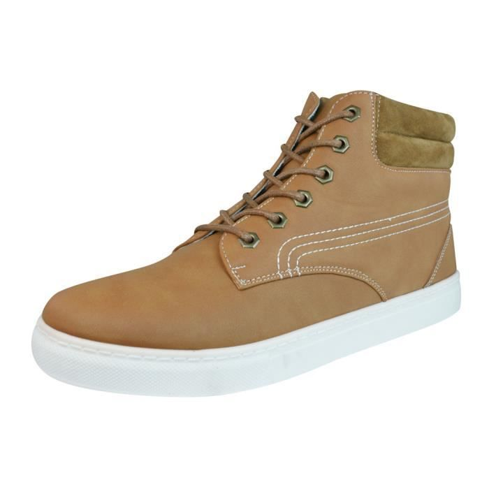 P Galaxy Brown Baskets Hommes lacets Top Hi Bottines gwpdw