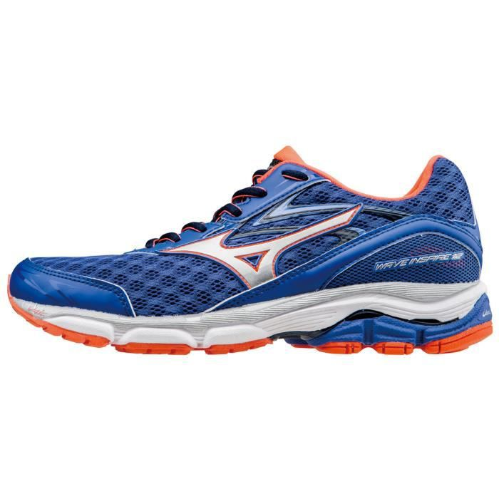 f1461fbcbeeb Mizuno Chaussures de running Wave Inspire 12 Femme dazzling  blue silver fiery coral