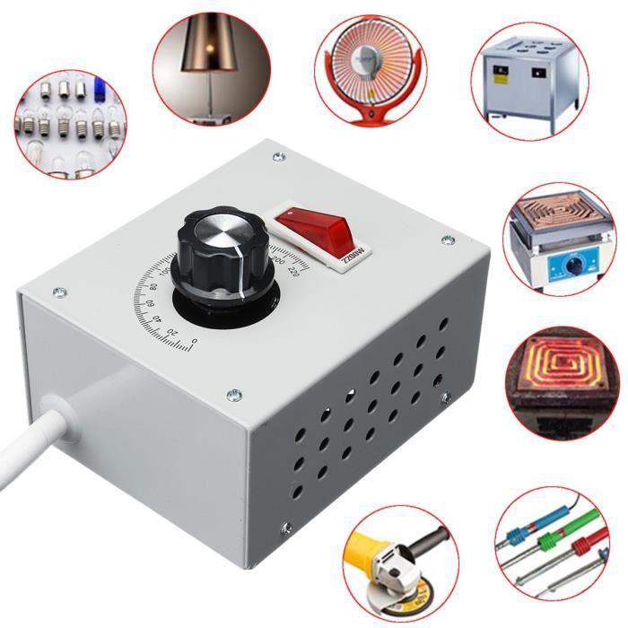4000 W Tension variable contrôleur pour lumière Ventilateur Moteur à Vitesse Dimmer Thermostat