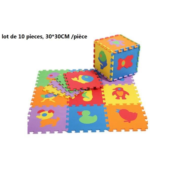 10 tapis de jeux d 39 eveil tapis mousse dessin animaux pour enfant b b 30 30cm piece achat. Black Bedroom Furniture Sets. Home Design Ideas
