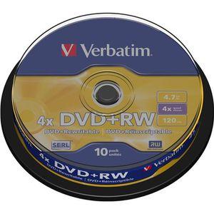 CD - DVD VIERGE Verbatim DVD+RW 4x