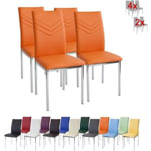CHAISE Albatros 2946 VERONA Lot de 4 chaises, orange, pie
