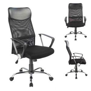 CHAISE DE BUREAU Chaise de bureau noire  - 0341 - Duhome - Fauteuil