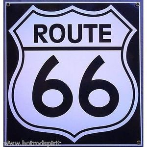 plaque emaillee route 66 achat vente plaque emaillee route 66 pas cher cdiscount. Black Bedroom Furniture Sets. Home Design Ideas