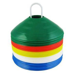 BALISAGE - CONE - PLOT Mitre Lot de 50 plots d'entraînement Multicolore