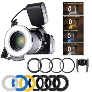 FLASH macro Ring flash 48 LED avec 8 adaptateurs et 4 an