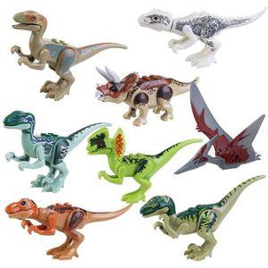 FIGURINE - PERSONNAGE 8pcs Miniature ABS Jurassic Park Jurassic World di