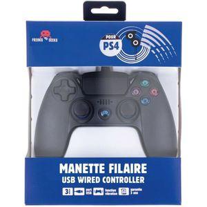 MANETTE JEUX VIDÉO Manette filaire FREAKS AND GEEKS de 3m Noire pour