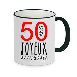 BOL - MUG - MAZAGRAN mug - Céramique - Noir LMK JOYEUX ANNIVERSAIRE 50