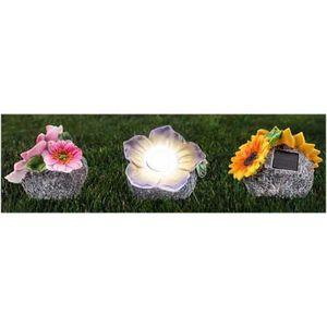 LAMPE DE JARDIN  Flora Lot de 3 - Fleurs lumineuses