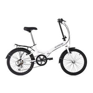 VÉLO PLIANT Vélo pliant 20'' FOLDTECH blanc 6 vitesses KS Cycl