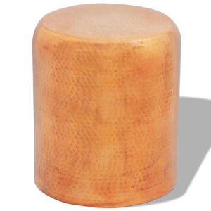 TABLE BASSE Table basse-tabouret martelé en aluminium Couleur